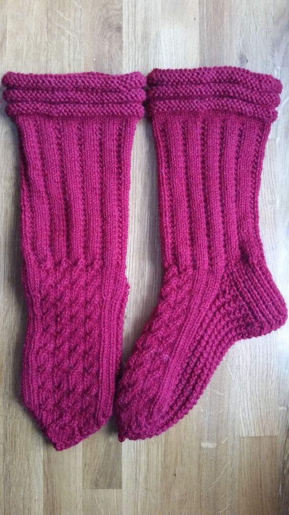 Warm wool socks woolenstockings  with soft base digital instruction pattern / Kotoilusukat villasukat pehmeällä pohjalla digitaalinen ohje