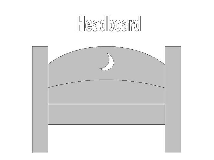 Headboard Template - Used for Andy's bed for a Toy Story cake, but I'm sure you could adapt it for any bed.