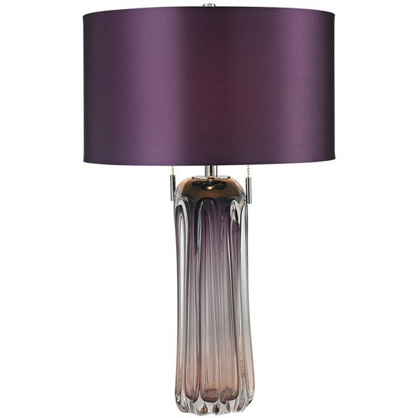 2-Light Purple Table Lamp found on Polyvore featuring polyvore, home, lighting, table lamps, table lamp, contemporary glass table lamps, glass lighting, glass table lamps, contemporary lighting and contemporary lamps
