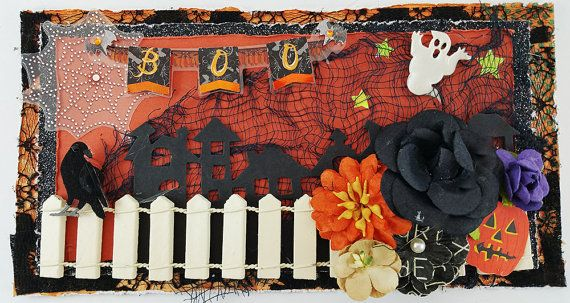 Handmade Halloween 3D Card with Envelope by SillySalCreates