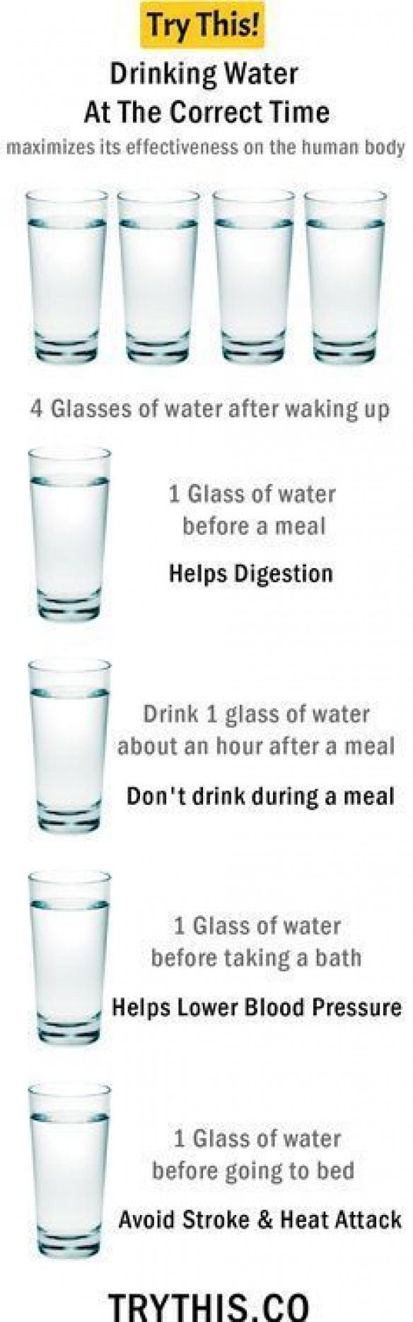 "Drinking water: drinking water at the right time More about ""health"" … #ges …"