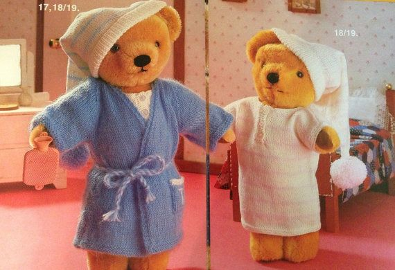Knitting Pattern For Teddy Bear Clothes : 400 best images about Teddy Bears Clothes - Knitting and Crochet Patterns on ...