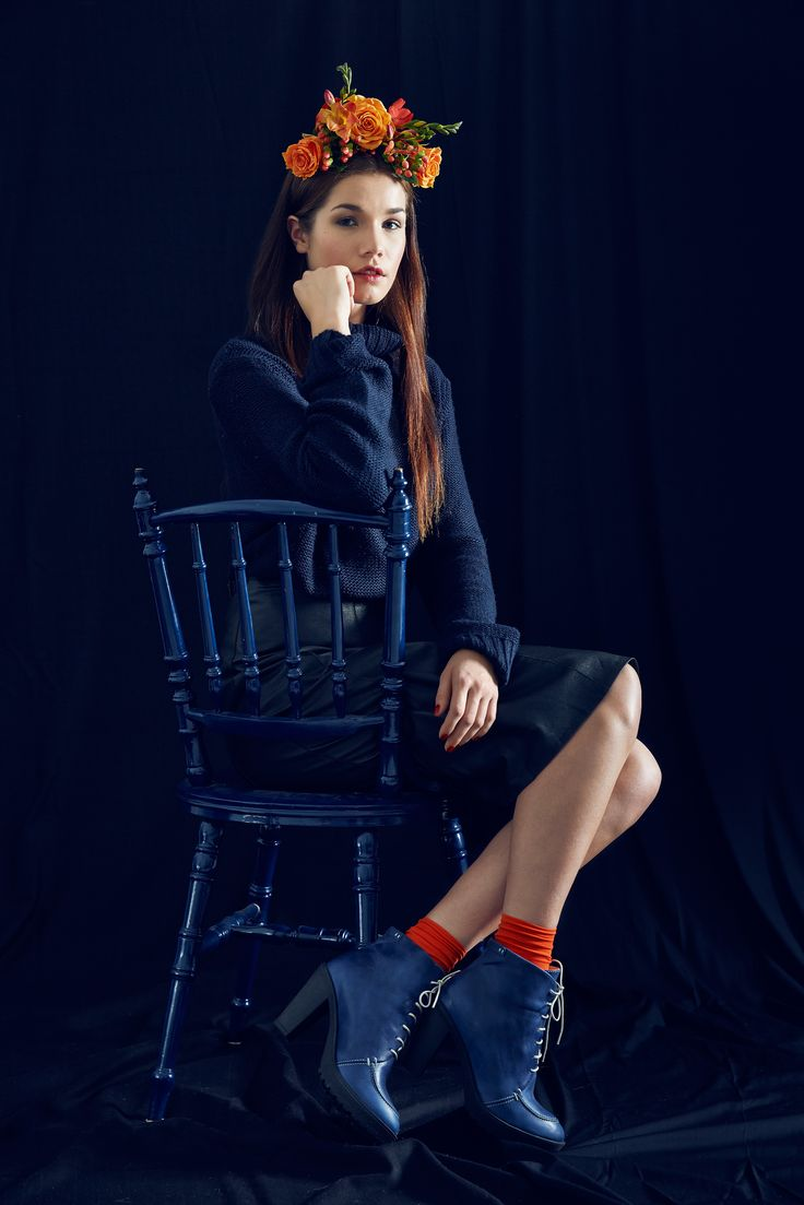 Leyla Boot, Blue. By Terhi Pölkki