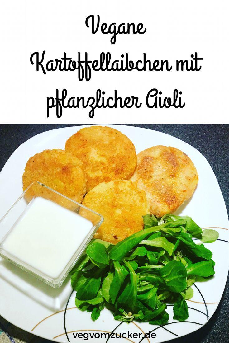 Kennst du schon diese veganen Kartoffellaibchen mit pflanzlicher Aioli? Nein? Dann aber Hopp Hopp! :-)