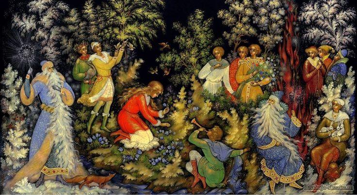 """""""Двенадцать месяцев"""", Маршак С.Я. http://russkaja-skazka.ru/dvenadcat-mesyacev/ Усмехнулся Март и запел звонко, во весь свой мальчишеский голос: Разбегайтесь, ручьи, Растекайтесь, лужи, Вылезайте, муравьи, После зимней стужи! Пробирается медведь Сквозь лесной валежник. Стали птицы песни петь, И расцвёл подснежник.  #сказки  #ДвенадцатьМесяцев #картинки #art #Russia #Россия #добро #дети  #иллюстрации #paint #картины #художник #Палех #ЛаковаяМиниатюра #RussianLacquerArt  #RussianFairyTales…"""