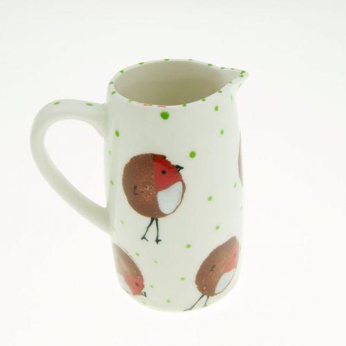 Christmas Robin Ceramic Jug by Rainbow Celebrations | giftwrappedandgorgeous.co.uk