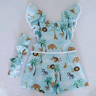 7a6a04b7b7 Jardineira Bichinhos por R 59 disponível nos tamanhos de 6 meses a 3 anos   jardineira  roupabebe  roupamenina Gostou clica no link  )