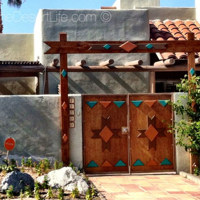 southwest style pueblo desert adobe home beautiful doors - South West Adobe Home Designs