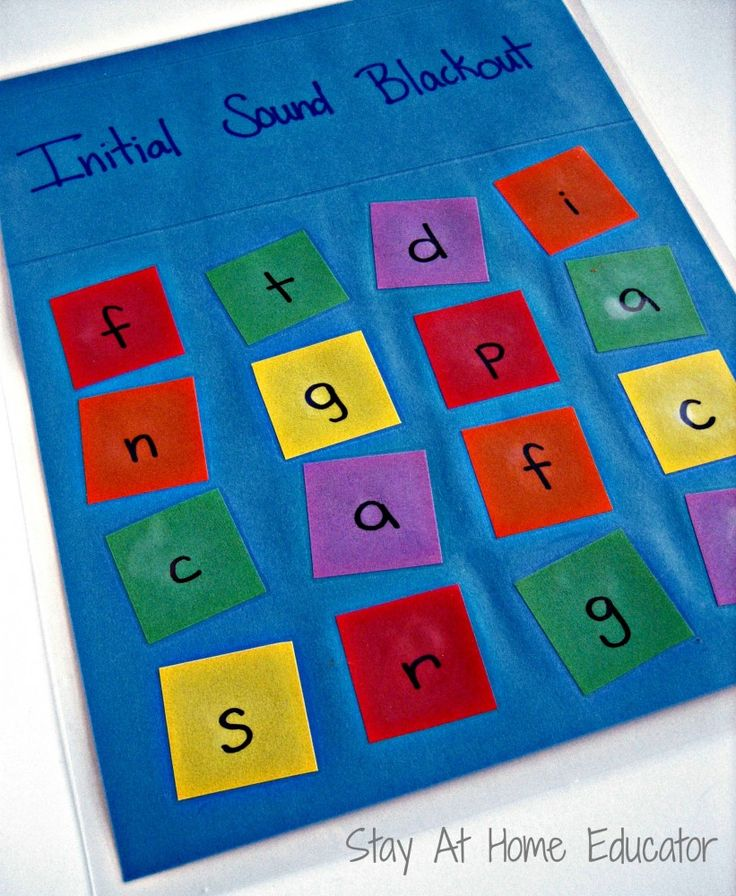 Intital sound blackout game for preschoolers and kinder - Stay At Home Educator