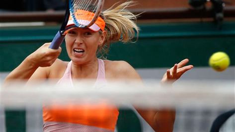 Maria Sharapova advanced to the fourth round of the French Open on Friday without losing a game, beating Paula Ormaechea of Argentina 6-0, 6-0 in 51 minutes.