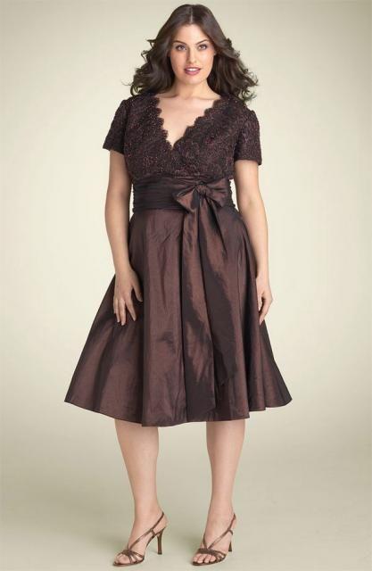 Image detail for -pretty plus size dress_JS Boutique Lace & Taffeta Dress.jpg