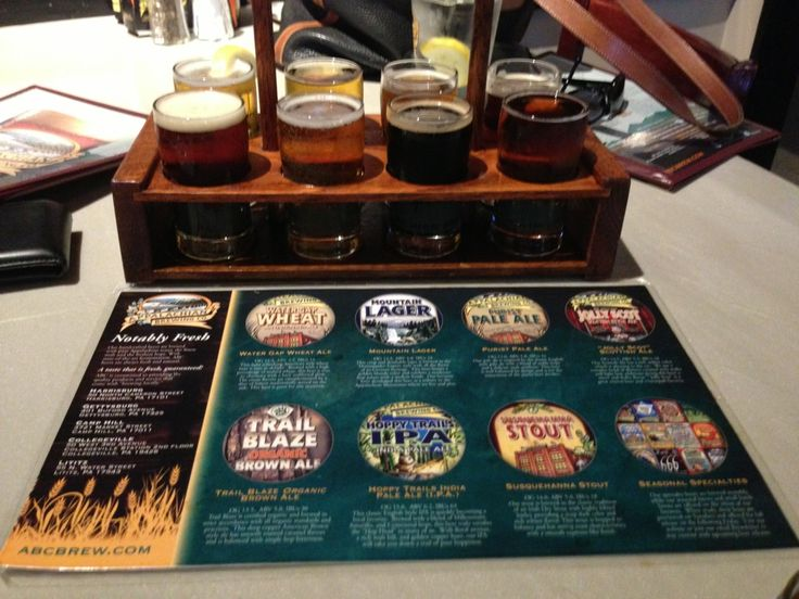 Try our sampler! Appalachian Brewing Company in Harrisburg, PA
