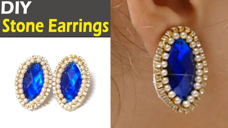 How to make Paper Stone Earrings Jewellery at Home   Earrings Making Video