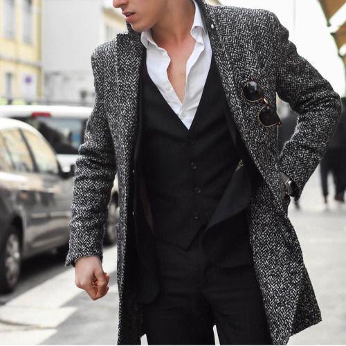 grey coat - FASHION MEN STYLE