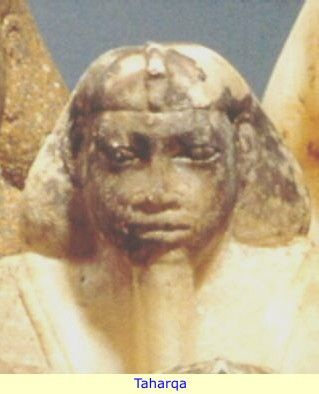 Taharqa - Taharqa was a pharaoh of the Ancient Egyptian 25th dynasty and king of the Kingdom of Kush, which was located in Northern Sudan. Son of Piye, the Nubian king of Napata who had first conquered Egypt. Although Taharqa's reign was filled with conflict with the Assyrians, it was also a prosperous renaissance period in Egypt and Kush.