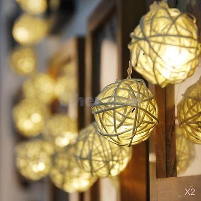 2x 20-LED Lichtkette Lampionkette Ball Form Lichterkette Weihnachtsdekor 83inch in Lichterketten   eBay