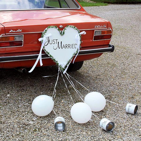 Autoschmuck fürs Hochzeitsauto - weddix