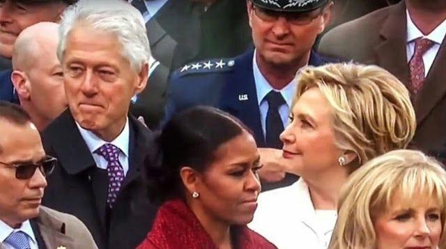 DNES ANGLICKY: Clintonovi na inauguraci Donalda Trumpa
