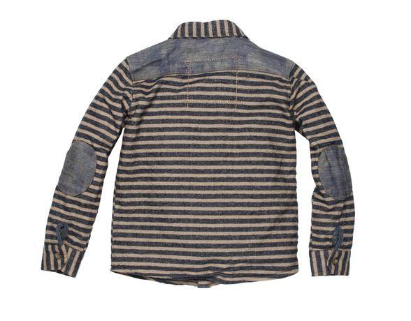 Moodstreet - Hemd Camel/Denim Stripe - FW15 M5076186 /905 - Lange Mouwen (boy) - Jongenskleding - Kinderkleding - Lieve vriendjes