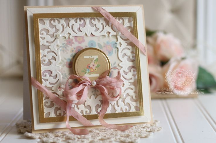 Card Making Ideas by Becca Feeken using Graceful Borders and Graceful Frame Maker by Spellbinders - see full supply list at www.amazingpapergrace.com