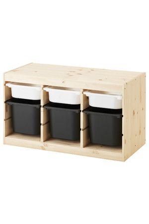 Серия удобной и устойчивой мебели для хранения игрушек, отдыха и игр. Благодаря направляющим вы можете установить контейнеры и полки в соответствии с потребностями хранения и в любой момент при необходимости изменить их положение. Расположите модули для хранения на удобной для ребенка высоте, и он сможет самостоятельно достать нужную вещь и навести порядок. Направляющие прилагаются. Можно дополнить крышкой ТРУФАСТ.Доставка по всей Украине.