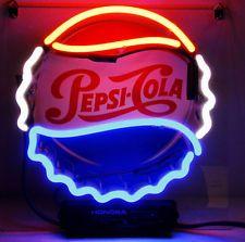 "PEPSI COLA LID Home LOGO Art Club Door Foods Bootle POSTER BAR LIGHT SIGN 8""X8"""