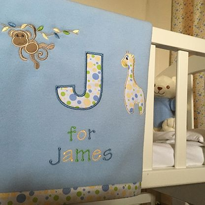 Jolly Jungle Personalised Baby Blankets