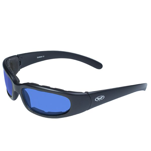 MOTORCYCLE RIDING DRIVING PADDED Choppers SUN GLASSES GOGGLES Black /& Red Frame
