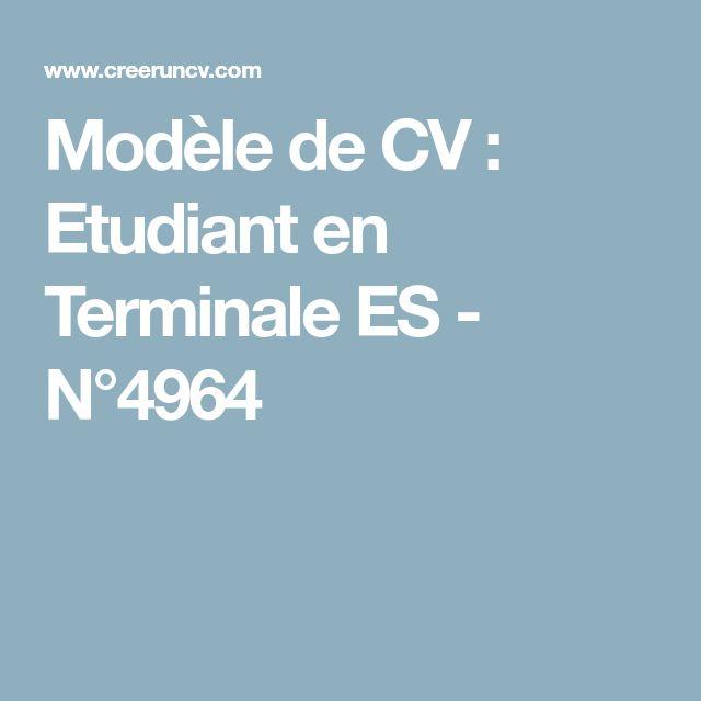 modele de cv en terminale es