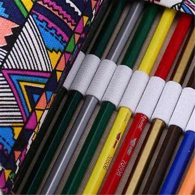 Envoltura de 1Pcs 36/48/72 orificios titular pluma Estuche Petaca Enrollable De Lona Bolsa de almacenamiento de lápiz