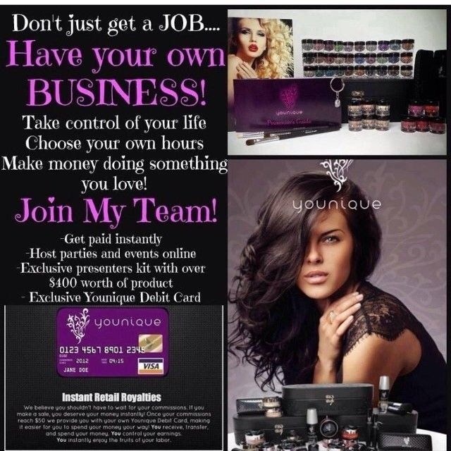 Start your own business for only $99.  Click here to see more:  https://www.youniqueproducts.com/heididoeding/business/founderscircle/australia#.U2fHfvldWT8  No auto-ships. No website fees. Get paid daily.  Incentive trips. Lots of  support. Work from home. Work during summer or while you have another job.  You are in charge.  Contact me to see if this is right for you.  #Younique #Australia #Workfromhome #Job #beauty #makeup #skincare #3dmascara #MLM