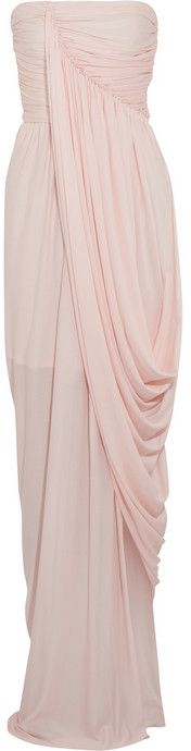 $1,765, Sophia Kokosalaki Draped Wrap Effect Crepe Jersey Gown. Sold by NET-A-PORTER.COM. Click for more info: https://lookastic.com/women/shop_items/20803/redirect