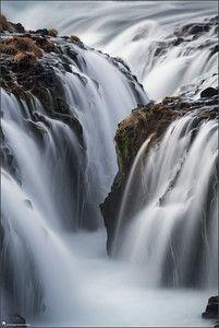 Iceland, landscape, photography, nature, travel, Images Beyond Words, Serge Daniel Knapp, Bruarfoss, close-up, waterfall, long time exposure, spray, art