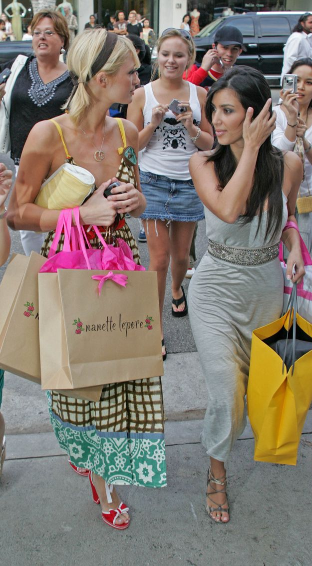 The constant shopping. | 21 Things We Miss About Kim Kardashian And Paris Hilton's Best Friendship