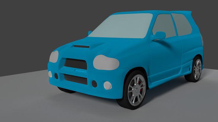 Suzuki Alto Works Rs 3D Blend - 3D Model