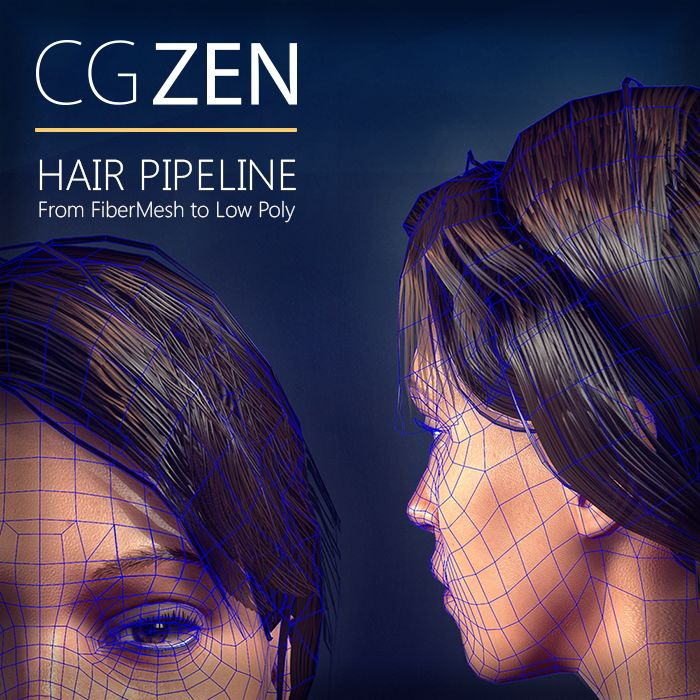 Hair Pipeline For Games - From Fibermesh to LowPoly