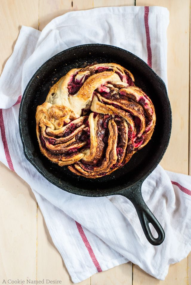 Nutella and Raspberry Swirl Bread | A Cookie Named Desire