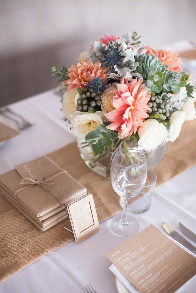 colourful centrepieces wedding sydney