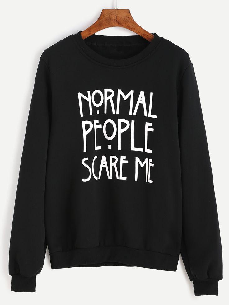 Shop Black Letter Print Sweatshirt online. SheIn offers Black Letter Print Sweatshirt & more to fit your fashionable needs.