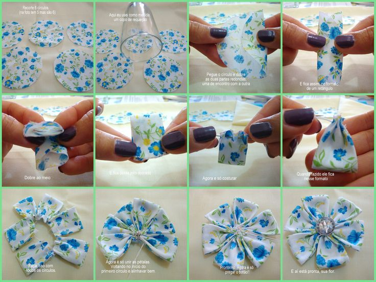DIY Fabric Flower Petal
