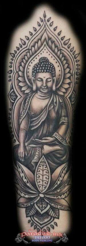 Upperarm Buddha tattoo                                                       …