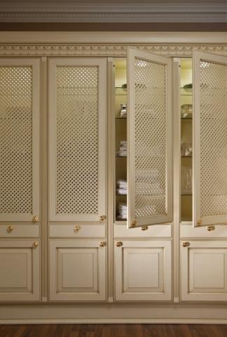 Elegant Clical Lattice Pantry Doors
