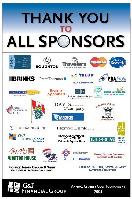 g f financial group annual charity golf tournament sponsorship