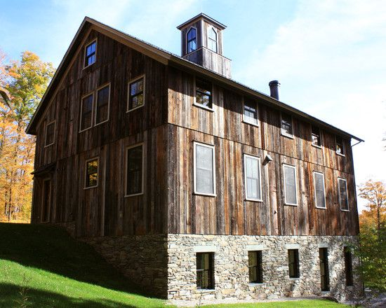 Fascinating Rustic Barn Conversion Ideas: Rustic House Architecture Music  Barn Waitsfield Exterior View ~ SQUAR