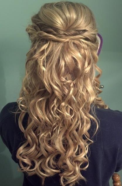 Half hair do, twist & curls