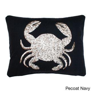 Sequin Crab Design Down Throw Pillow - Overstock™ Shopping - Great Deals on Thro Throw Pillows