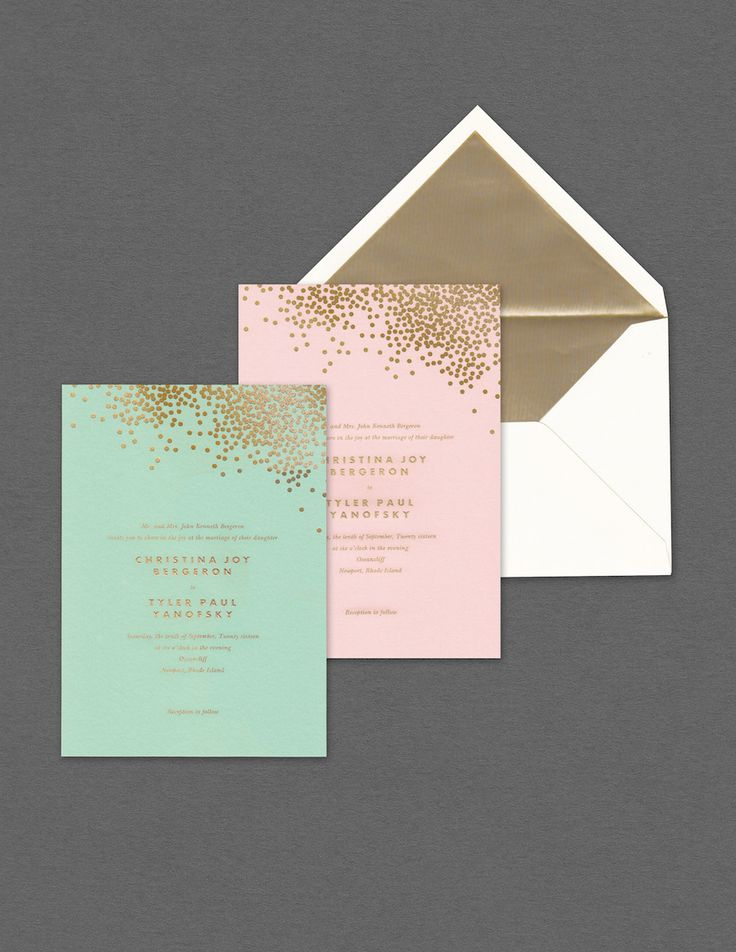 wedding invitations for less than dollar%0A Pink and green invitations