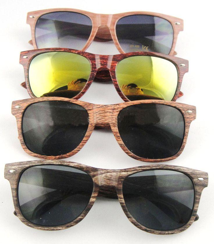 Wooden tükörlencsés napszemüveg
