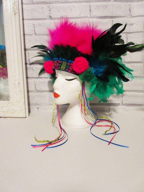 feather headdress, tribal headdress, festival headdress, carnival