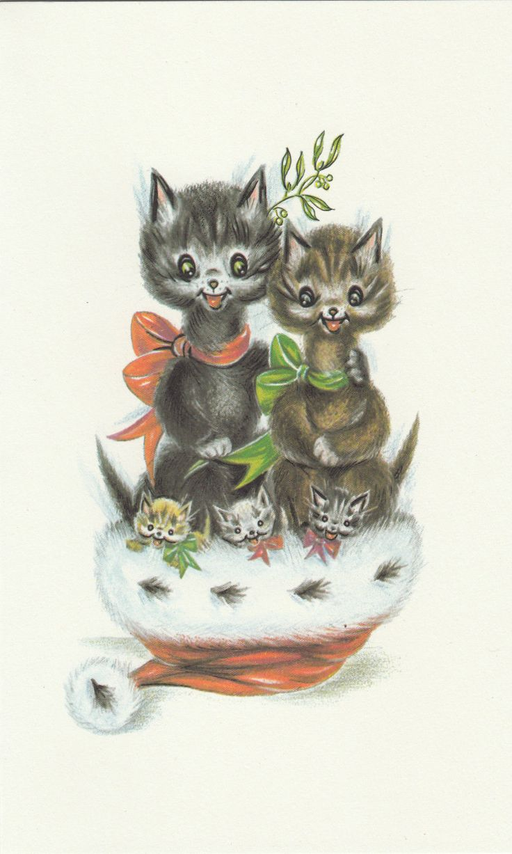 Happy Christmas Vintage 1970's Greeting Card - Merry Black Santa Cats Kittens ~ FOR SALE • £2.99 • See Photos! Money Back Guarantee. Original from the 1970's - This comes from leftover stock from my Family's Greeting Card Wholesalers.They Don't make them like this anymore! Happy Christmas Greeting Card With Envelope. Wording Inside 282546450439